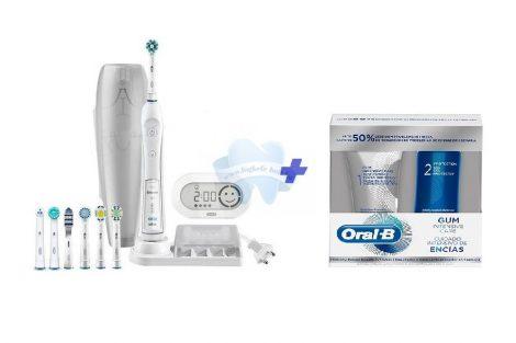 Braun Oral-B Pro 6000  elektromos fogkefe 7 pótkefével + Oral-B Intensive Care Ínyvédő CSOMAG