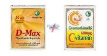 Dr Chen Gyomorkímélő C-vitamin (30db) + D-max kapszula (80db)
