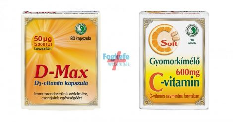 VITAMIN Csomag: Dr Chen Gyomorkímélő C-vitamin (30db) + D-max kapszula (80db)