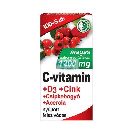 Dr. Chen C-vitamin 1200mg+D3-vitamin+Cink tabletta 105db