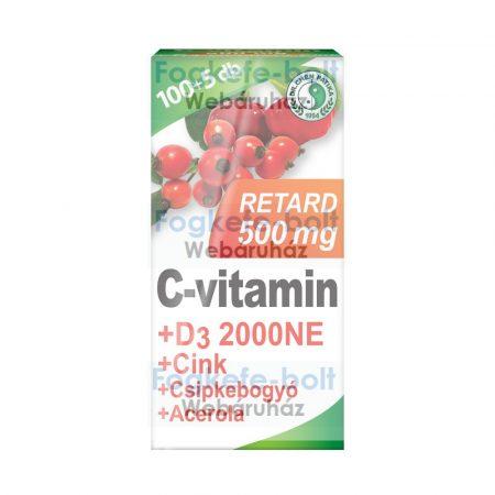 Dr. Chen C-vitamin 500mg Retard+D3+Acerola tabletta  (105db)