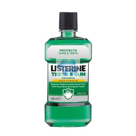 Listerine Teeth & Gum Defence fog és ínyápoló szájvíz 500 ml
