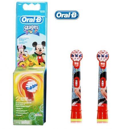 Braun Oral-B EB 10-2 Kids Electro elektromos pótkefe gyerek MICKEY EGÉR 2 db-os
