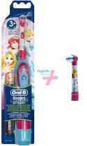 Hercegnő Csomag II: Oral-B Stages Power (DB4510K) gyermek elemes fogkefe Princess + 1 db pótkefe