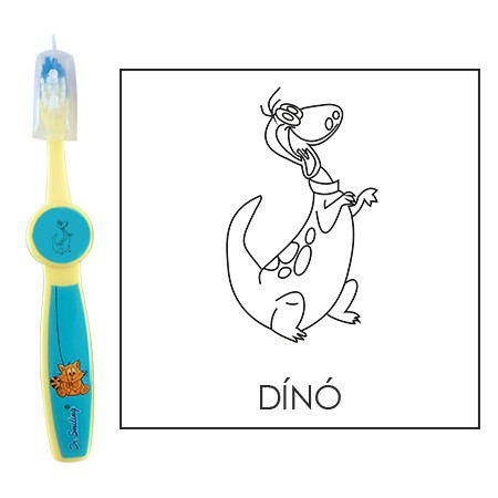 Ovis fogkefe: DINO - kék