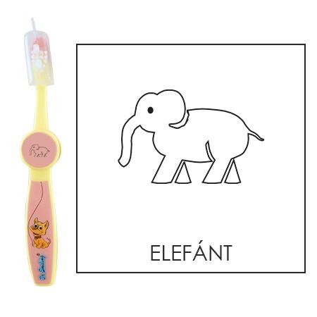 Ovis fogkefe: ELEFÁNT - rózsaszín