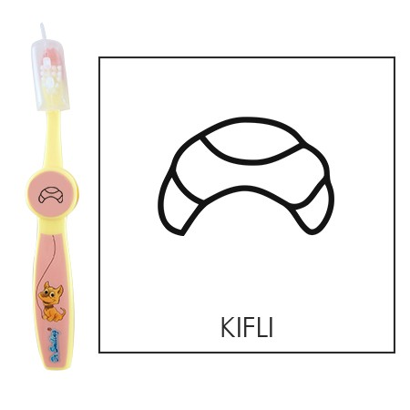 Ovis fogkefe: KIFLI- rózsaszín