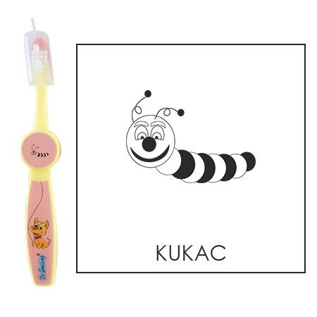 Ovis fogkefe: KUKAC - rózsaszín