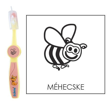 Ovis fogkefe: MÉHECSKE- rózsaszín
