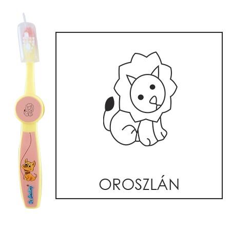 Ovis fogkefe: OROSZLÁN - rózsaszín