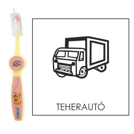 Ovis fogkefe: TEHERAUTÓ - rózsaszín