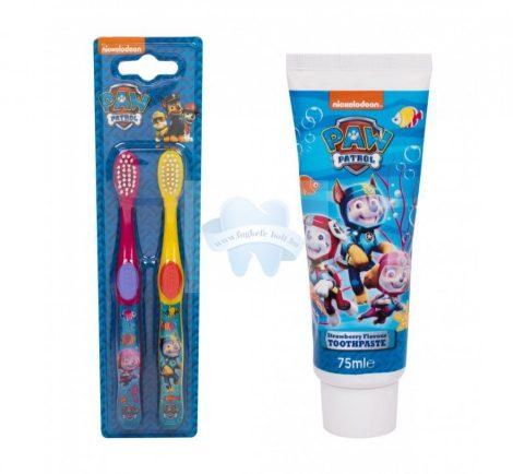 Mancs Őrjáratos gyerek fogkefe + fogkrém szett Paw Patrol