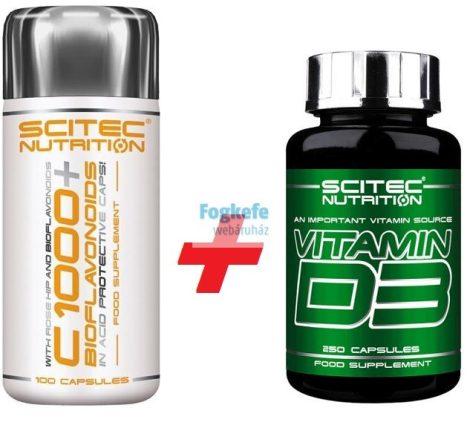 Scitec VITAMIN CSOMAG: Nutrition C-1000 Bioflavonoids + D3 kapszula