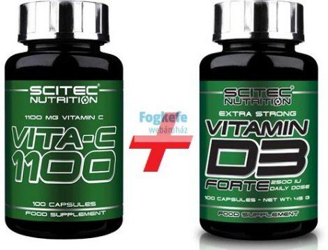 Scitec VITAMIN CSOMAG: Vita C-1100 + D3 Forte kapszula